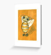 Ochre Bee Greeting Card