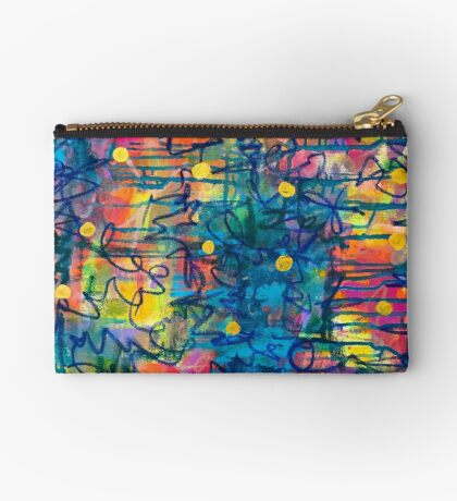 The Key to New Beginnings - an Anahata Codes infused intuitive painting Studio Pouch