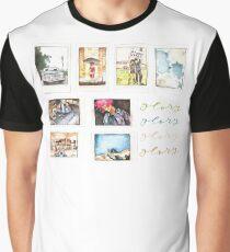Watercolor Glory Polaroids Graphic T-Shirt