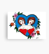 Traditional Conjoined Twins Canvas Print