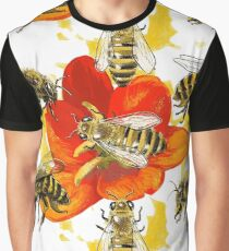 Bees and flowers. Beeeees! Graphic T-Shirt