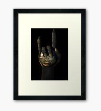 Devil Horn Domination Framed Print