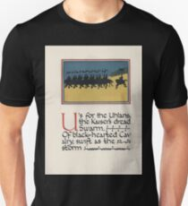 The Child's ABC of the War Geoffrey Whitworth Stanley North 1914 U for the Uhlans the Kaiser's Dread Swarm Unisex T-Shirt