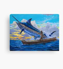 Old man's tale Canvas Print