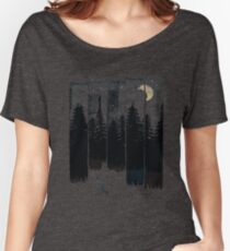 A Fox in the Wild Night Women's Relaxed Fit T-Shirt