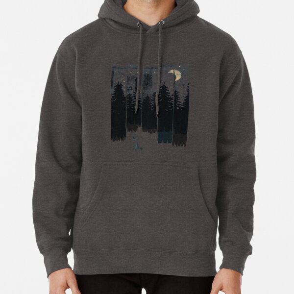 A Fox in the Wild Night Pullover Hoodie