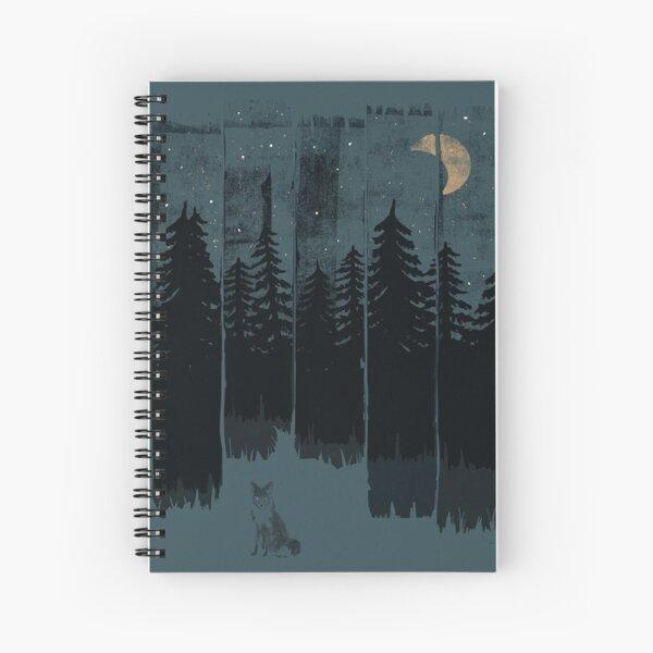 A Fox in the Wild Night Spiral Notebook