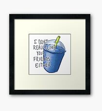 Heathers- Slushie Framed Print