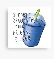 Heathers- Slushie Canvas Print