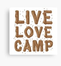 live love camp in wood finish Canvas Print
