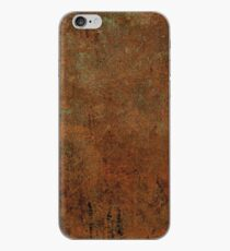 Rustic Grunge Brown Leather Look iPhone Case