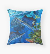 Sailfish Reef Throw Pillow