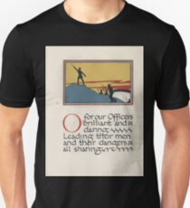 The Child's ABC of the War Geoffrey Whitworth Stanley North 1914 O for our Officers Brilliant and Daring Unisex T-Shirt