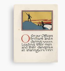 The Child's ABC of the War Geoffrey Whitworth Stanley North 1914 O for our Officers Brilliant and Daring Canvas Print