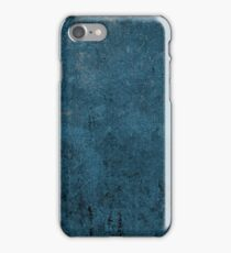 Rustic Grunge Blue Leather Look iPhone Case/Skin