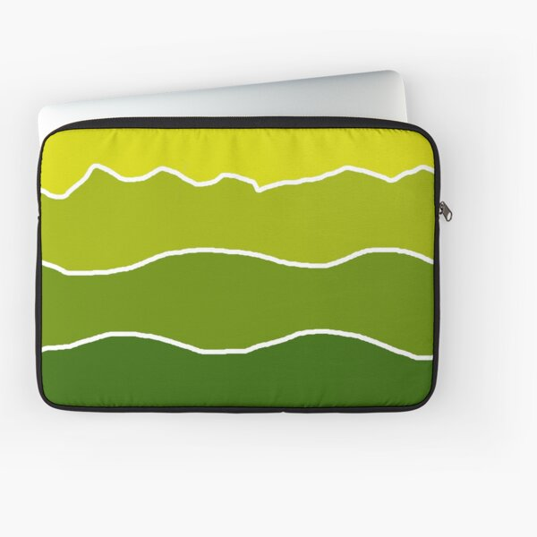 Landscape Staggered Green Laptop Sleeve
