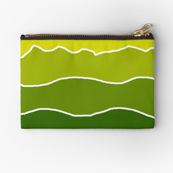 Landscape Staggered Green Zipper Pouch