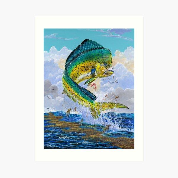 Mahi Hook Up Art Print