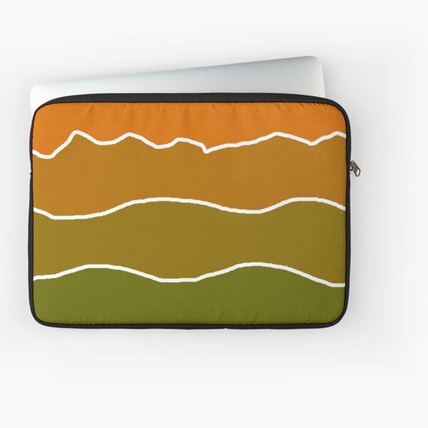 Landscape Staggered Green Orange Laptop Sleeve