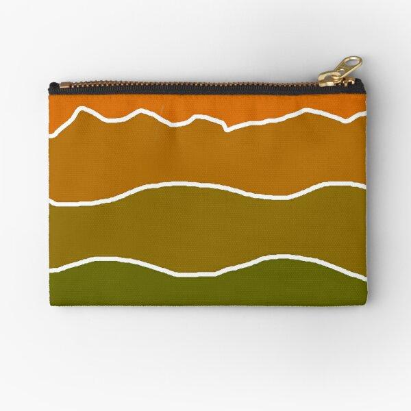 Landscape Staggered Green Orange Zipper Pouch