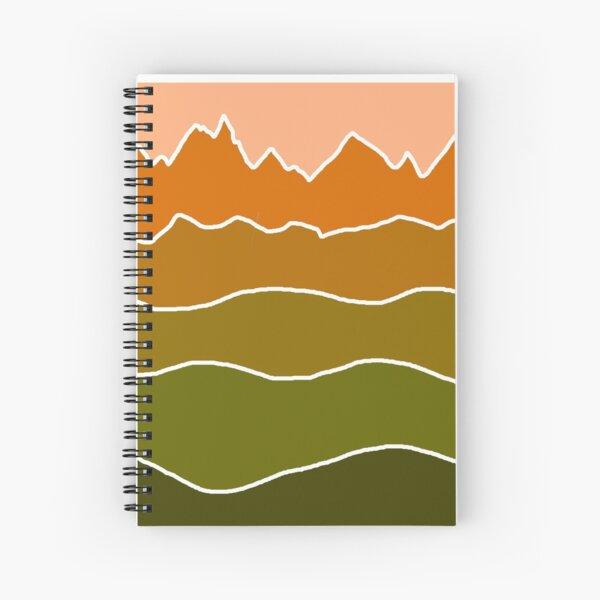 Landscape Staggered Green Orange Spiral Notebook