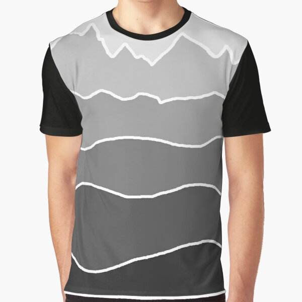 Landscape Staggered Grey Graphic T-Shirt