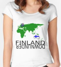 Finland Downunder Women's Fitted Scoop T-Shirt