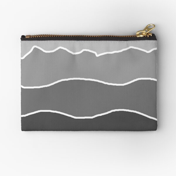 Landscape Staggered Grey Zipper Pouch