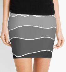 Landscape Staggered Grey Mini Skirt