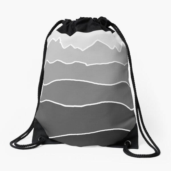Landscape Staggered Grey Drawstring Bag