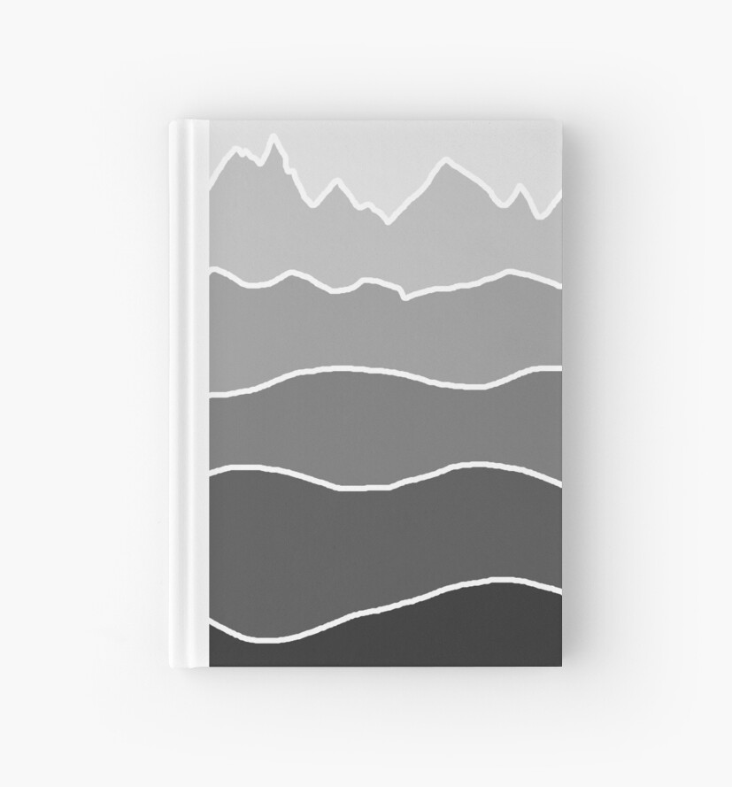Landscape Staggered Grey by HandDrawnTees