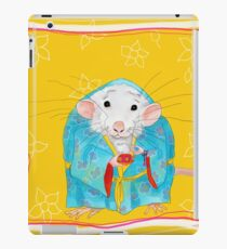 Stay Calm and Meditate With Stu The Sewer Rat  iPad Case/Skin