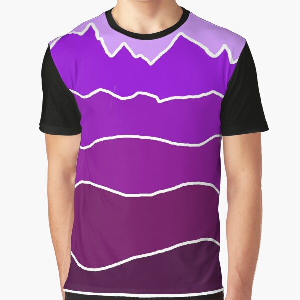 Landscape Staggered Purple Graphic T-Shirt