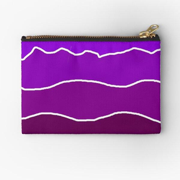 Landscape Staggered Purple Zipper Pouch