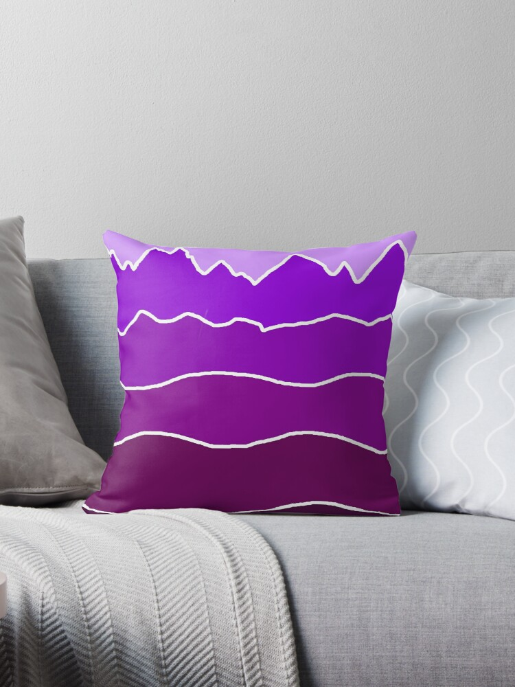 Landscape Staggered Purple by HandDrawnTees
