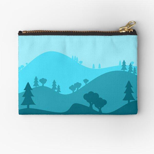 Landscape Blended Blue Zipper Pouch