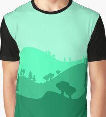 Landscape Blended Green Graphic T-Shirt