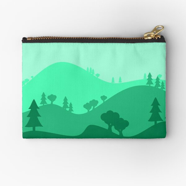 Landscape Blended Green Zipper Pouch