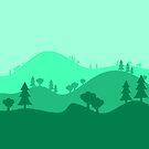 Landscape Blended Green by HandDrawnTees