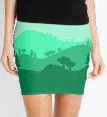 Landscape Blended Green Mini Skirt