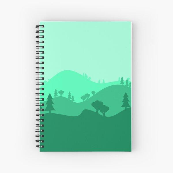 Landscape Blended Green Spiral Notebook