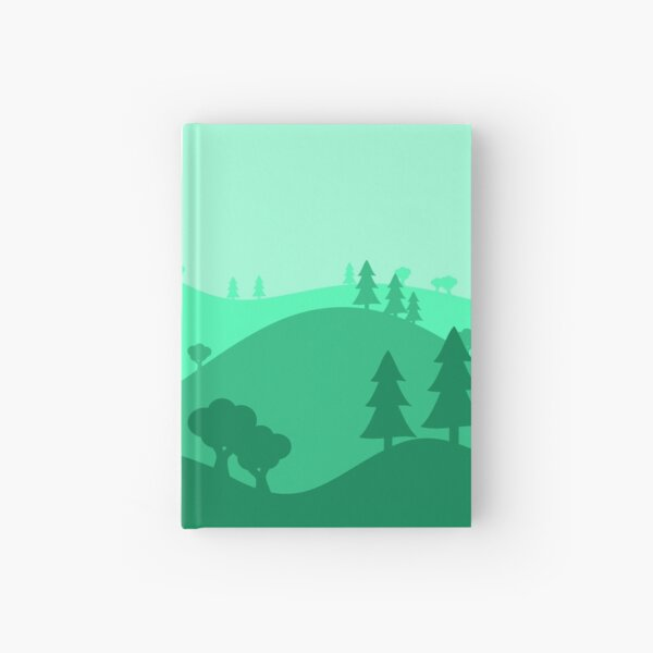 Landscape Blended Green Hardcover Journal
