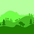 Landscape Blended Green 2 by HandDrawnTees