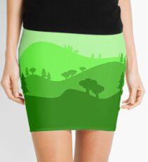 Landscape Blended Green 2 Mini Skirt