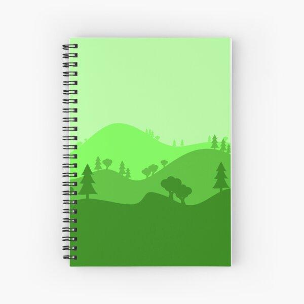 Landscape Blended Green 2 Spiral Notebook