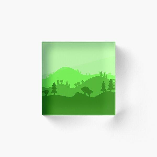 Landscape Blended Green 2 Acrylic Block