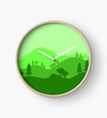 Landscape Blended Green 2 Clock