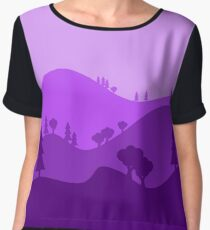 Landscape Blended Purple Chiffon Top