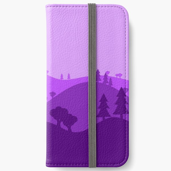 Landscape Blended Purple iPhone Wallet