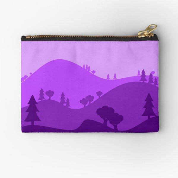 Landscape Blended Purple Zipper Pouch